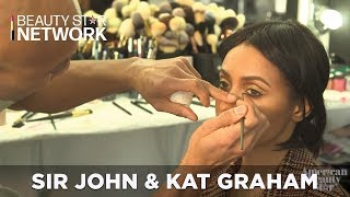 Sir John Shares His Makeup Process with Kat Graham