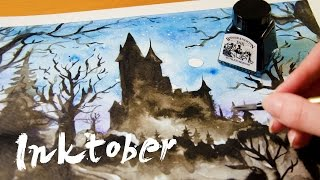 "Speed Painting ""Silhouette"" - INKTOBER"