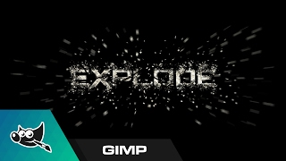 GIMP Tutorial: Exploding Text Effect