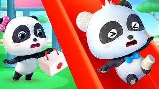 Chơi cầu trượt cùng Kiki panda | Vui chơi an toàn | Nhạc thiếu nhi hay - Bài học an toàn | BabyBus