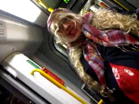 Tranny On The Tram! Male And Pregnant! video
