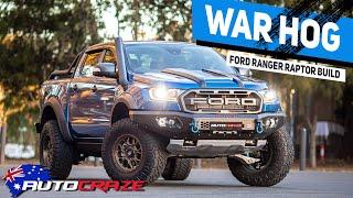 WAR HOG RAPTOR // Ford Ranger Raptor Build Wheels, Tyres, Roll R Cover,  4x4 Accessories & More