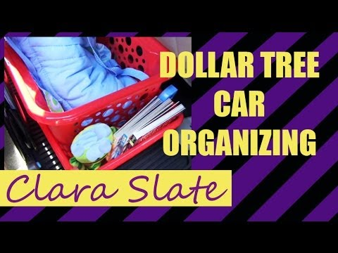 ♥ DOLLAR TREE ORGANIZING ♥ CAR CLEANUP!!!