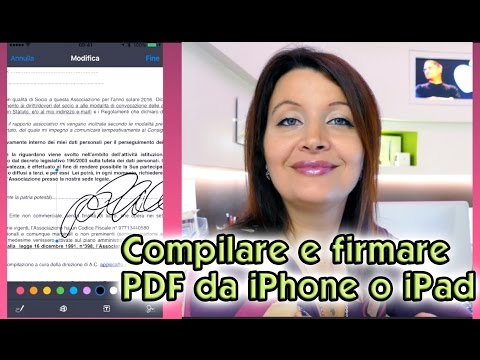 Come compilare e firmare Pdf con iPhone o iPad con iOS9