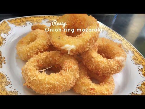 Onion Rings mozzarella reciepe  Resep Cara Membuat Onion Rings Mozarela Crunchy