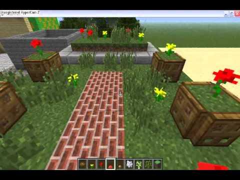minecraft décoration de jardin - YouTube
