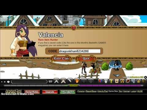 AQW: Valencia's Codes