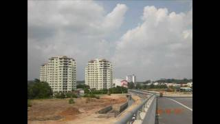JOHORE BAHRU COASTAL HIGHWAY - Danga Cove - Nusajaya City - Puteri Harbour (HD)