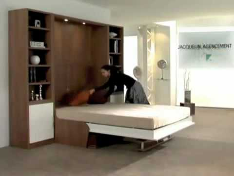 armoire lit escamotable campus jacquelin avec canap int gr mp4 youtube. Black Bedroom Furniture Sets. Home Design Ideas