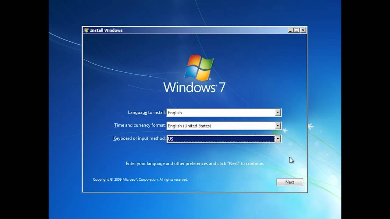 how to perform a clean install of windows 7