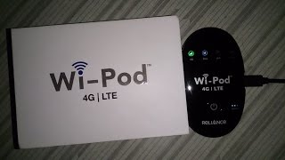 Reliance 4G Wi-Pod LTE Unboxing & Review, installation & speed test