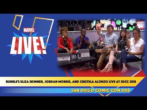 Bubble's Eliza Skinner, Jordan Morris, and Cristela Alonzo Live at SDCC 2018