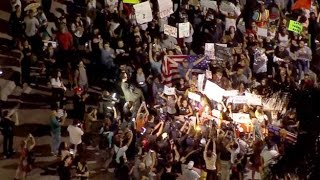 Miami Anti Trump protestors blocking major highways and taking over downtown