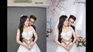Cách ghép phông nền ảnh cưới cơ bản bằng photoshop