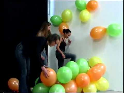 balloon popping party girls