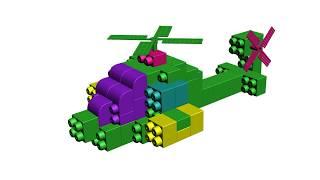 Làm máy bay trực thăng - Đồ chơi xếp hình - Educational Toys