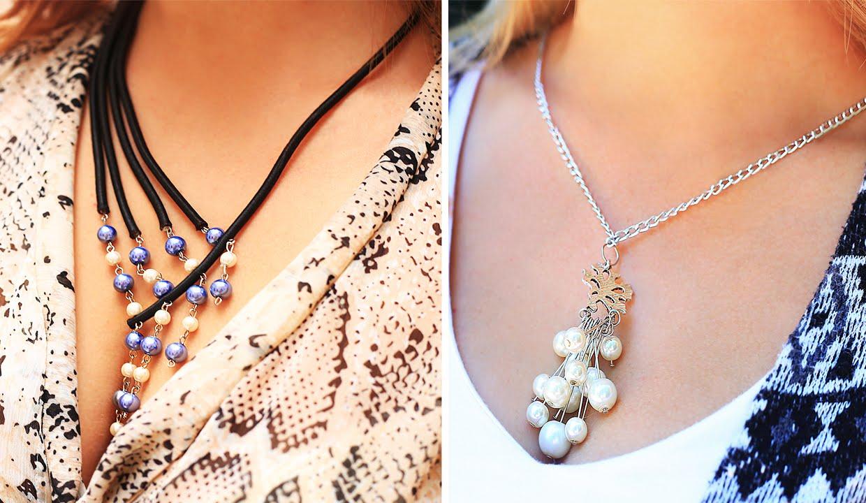 Ожерелье с бусинами своими руками фото 999