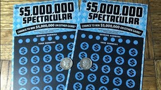 Nice win THEN an even nicer win! Back to back wins in $5,000,000 SPECTACULAR California Scratchers