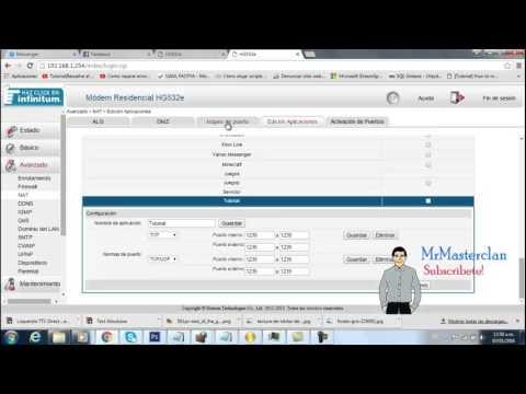 Como abrir los puertos en modem HG532e Telmex(etc..)  MrMasterclan