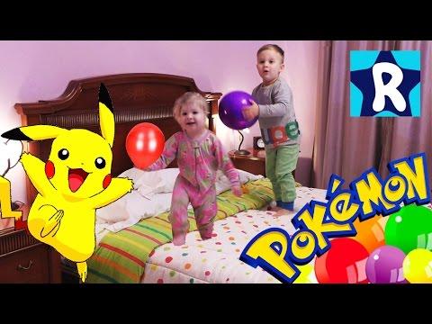 ★ Пакетики с Монстрами ПОКЕМОН Шарики с Сюрпризами Pokemon BALLOONS SURPRISE unboxing toys