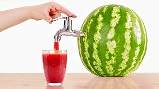 2 WAYS TO MAKE A WATERMELON JUICE DISPENSER