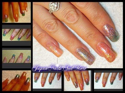 Glitter Gradient Gel Nails