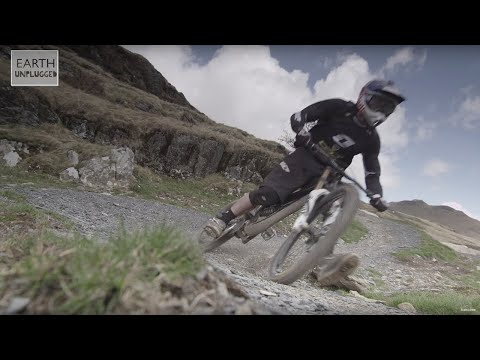 BEHIND THE SCENES of Peregrine Falcon hunting Red Bull downhill racer  - Earth Unplugged
