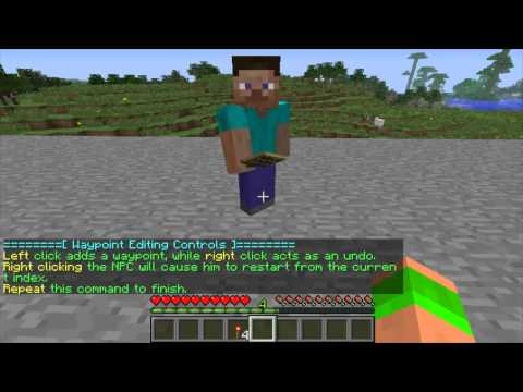 Minecraft Bukkit Plugin - Citizens - Create NPCs in minecraft - Talking and walking NPCs!