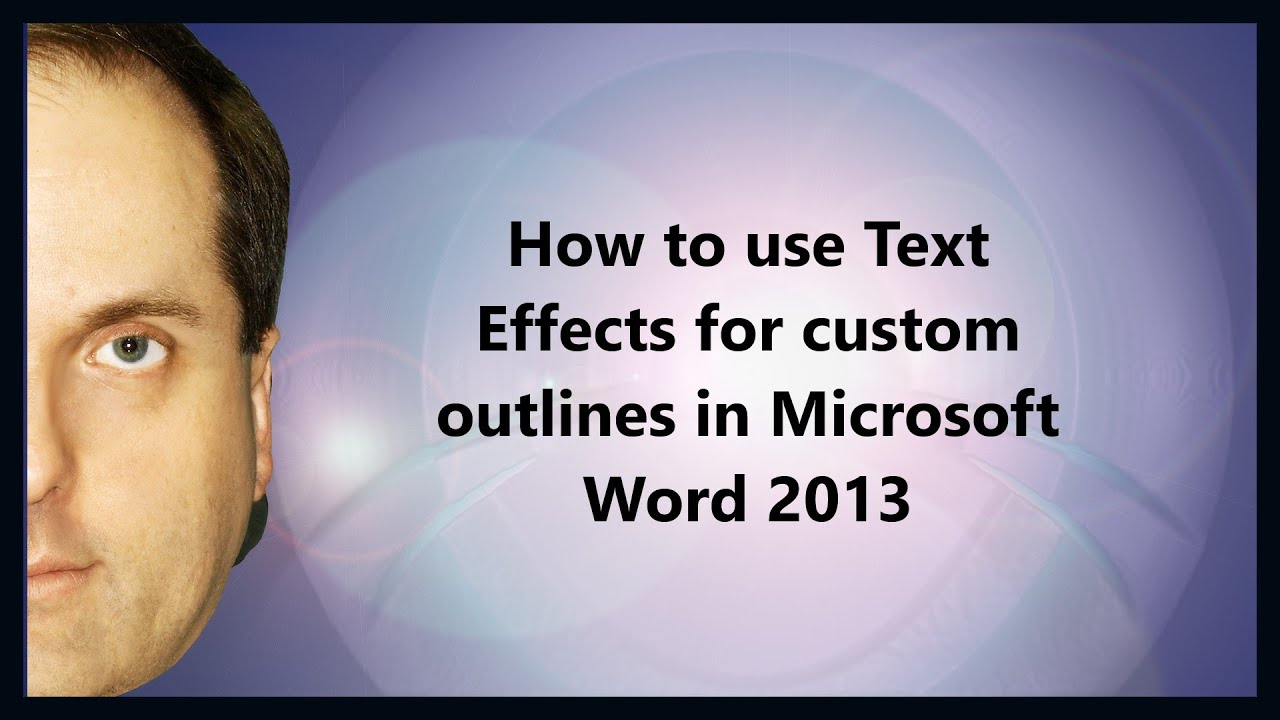 how to add shadow to text in word 2007