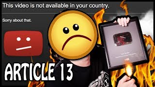 ARTICLE 13 – End Of YouTube & Internet Freedom? MUST WATCH