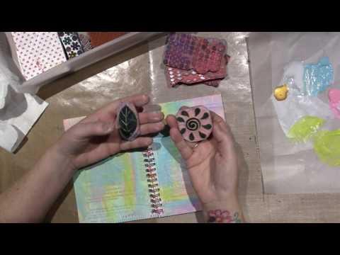 Mixed Media Altered notebook tutorial