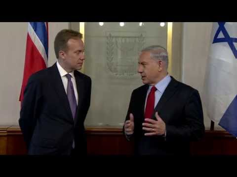 PM Netanyahu Meets with Norwegian Foreign Minister Børge Brende