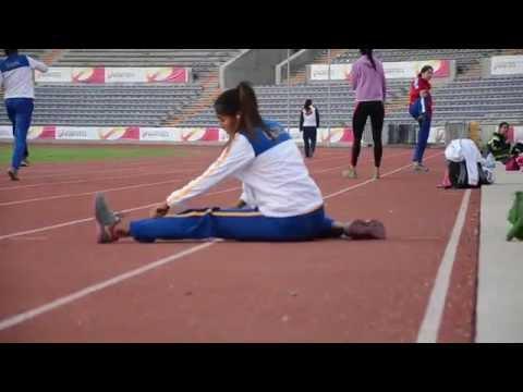 Calentamiento salto triple femenil