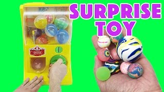Surprise BOUNCY BALLS Toy Machine! Surprise Arcade Game!