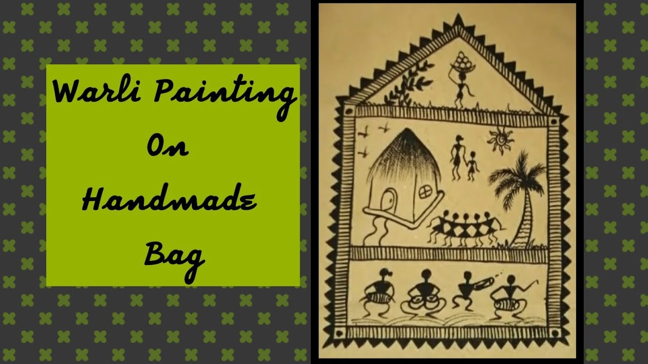 sameeka u0026 39 s warli painting on hand made paper bag