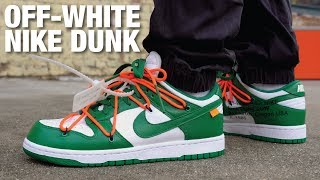 OFF WHITE Nike Dunk Low Pine Green REVIEW & ON FEET