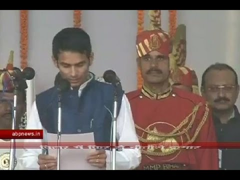 Check out when Lalu Prasad Yadav's son, Tej Pratap, was asked to repeat his oath