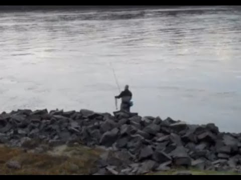 Cape Cod Canal Striped Bass 2 Fish in 2 Mins Nov 2012