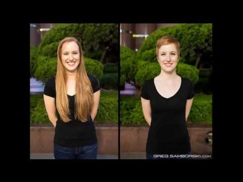 haircut on redhead long to short pixie ( press like or comment)