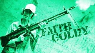 Shooting a M60 machine gun at Battlefield Vegas!