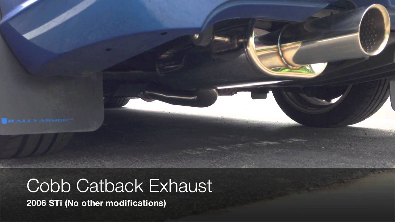 Subaru Sti Stock Exhaust Vs Cobb Catback Youtube