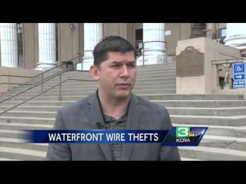 Copper wire stolen from lighting along Stockton's waterfront