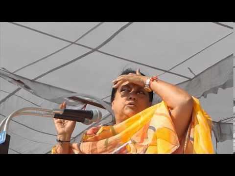 BJP Rajasthan President Smt.Vasundhara Raje's speech at  Kishangarh Bas