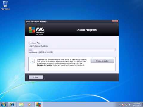 how to install avg free anti virus on windows 7