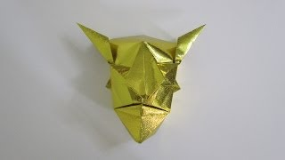 Tutorial - Origami Devil Mask From The Book 'genuine Origami' By Jun Maekawa)