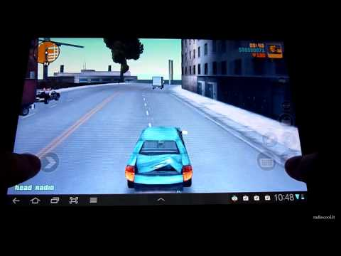 GTA III gameplay on the Samsung Galaxy Tab 8.9 Android tablet