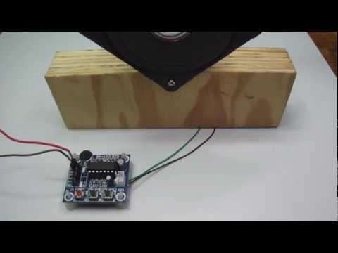 ISD1820 - Gravador de voz e player para Arduino