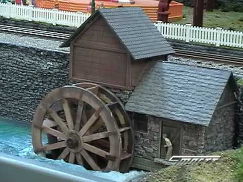Custom Animated Water Wheel in O Scale Video