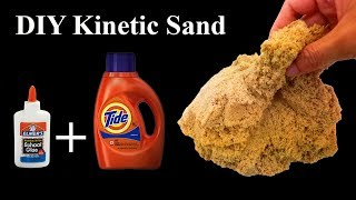 2 INGREDIENT! TIDE And GLUE - DIY Kinetic Sand without Cornstarch!! That Work 100%