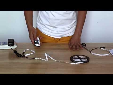 12 volt sticky back flexible led strip light how to make. Black Bedroom Furniture Sets. Home Design Ideas